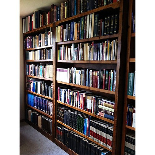 Moved dad's library over to our house. Makes him feel a little closer. #PicTapGo
