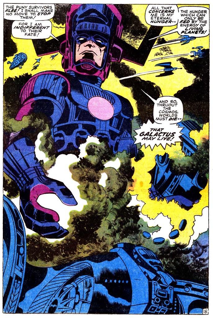 Thor 167 Galactus splash page 1969 Kirby