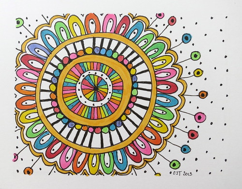 Colorful Zentangle