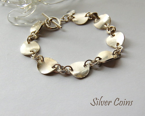 Silver Coins Bracelet by gemwaithnia