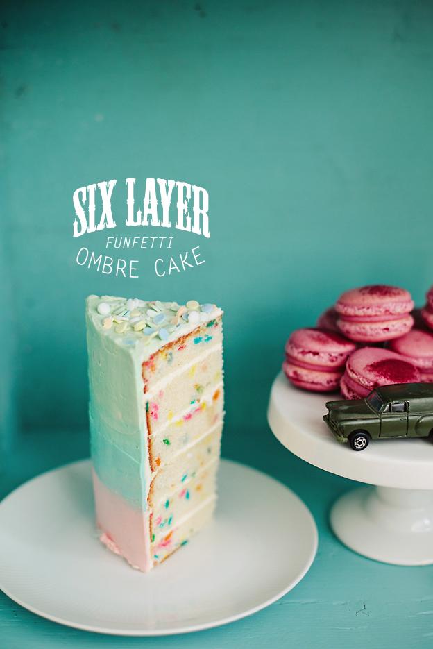 6 Layer Funfetti Ombre Cake Call Me Cupcake