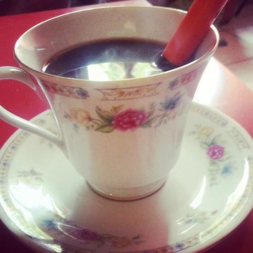 1er café du matin #tasse #liling #china #yungchen #vintage