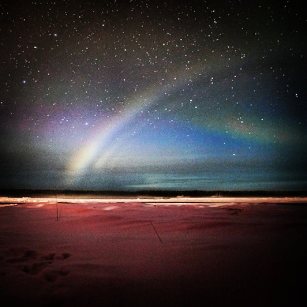 A pic from a friend. A #moonbow #stunning #bestofinstagram #rainbow #beach #Ocean