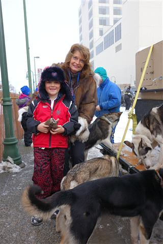 with senator murkowski at Iditarod