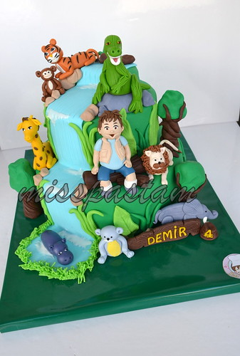 safari and diego cake by MİSSPASTAM