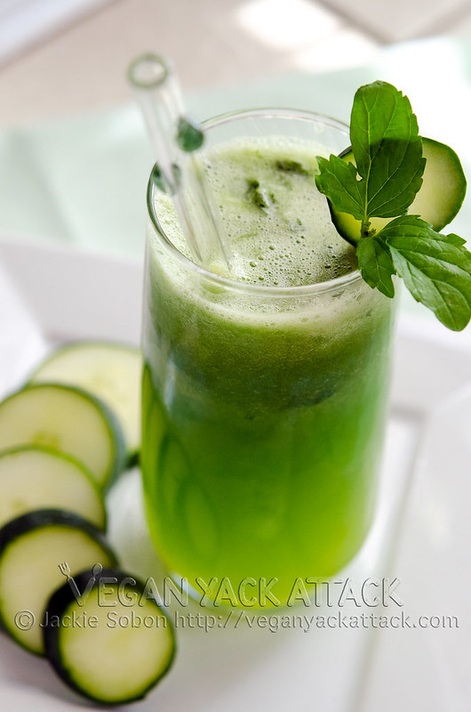 Minty Cucumber Melon Juice