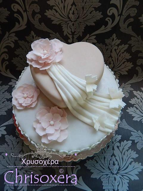 Wedding Cake by Cornelia Nousis of Chrisoxera.wix.com/itsonlycake Χρυσοχέρα