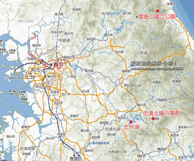 雪嶽山賞楓地圖