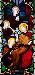 Mary Magdalene anoints Christ's feet