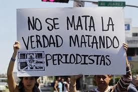 Protesto contra a violência aos comunicadores em Xalapa, no México, no início deste ano - Créditos: Reprodução