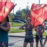 DF Colorguard (Band) Practice 9-6-16