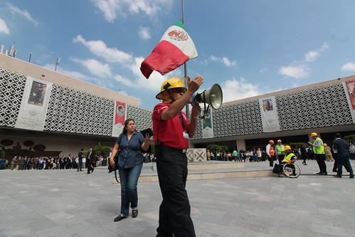 El día 19 de septeimbre del 2016 se llevó a cabo en la H. Cámara de Diputados el Macrosimulacro de la Ciudad de México.