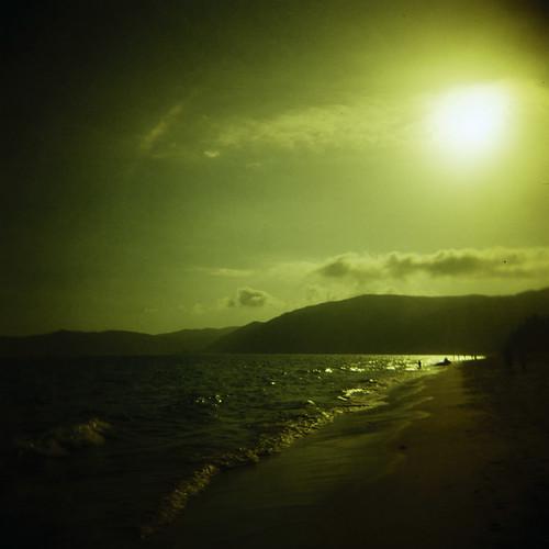 ocean china sunset sea sun seascape film beach water clouds landscape island holga lomo lomography scenery colorful toycamera surreal tropical dreamy 中国 三亚 sanya hainan analogphotography 海南