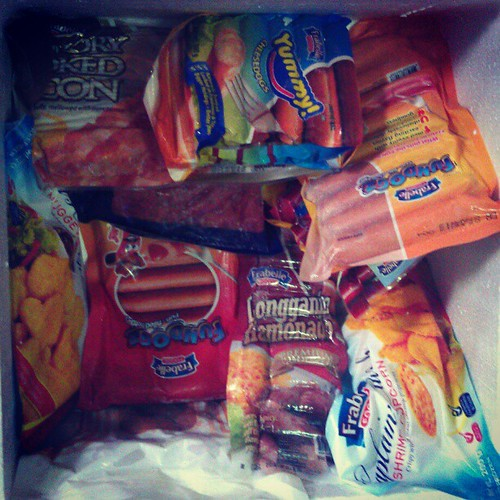 Thanks Frabelle! for this icebox full of products! #food #foodstagram #igersmanila #igers