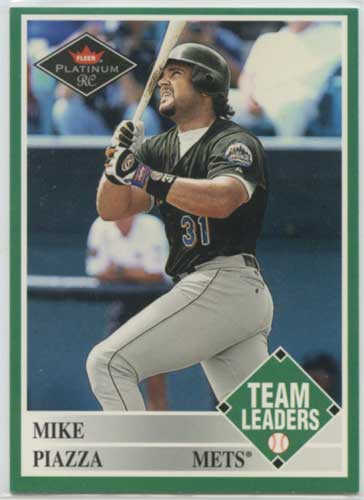 2001 Fleer Platinum RC Mike Piazza TL