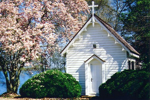 Greenwell State Park, chapel in springtime