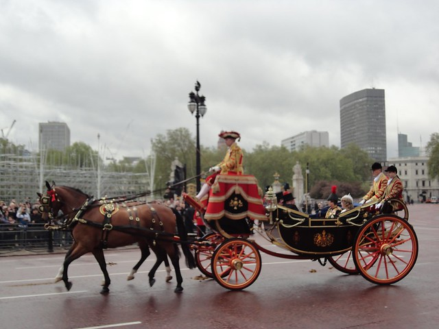 Queen - leaving Buckingham Palace to open Parliament