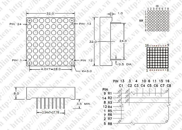 Chuan.Led Matrix 8x8 32mm_GF
