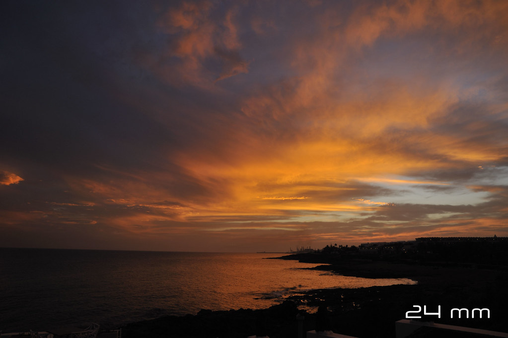 Sunset in Lanzarote 24mm