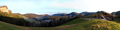 Panorama 180° (West - Nord - Ost) ab Oberbölchen