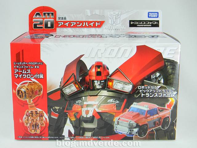 Transformers Ironhide Deluxe - Arms Micron - caja