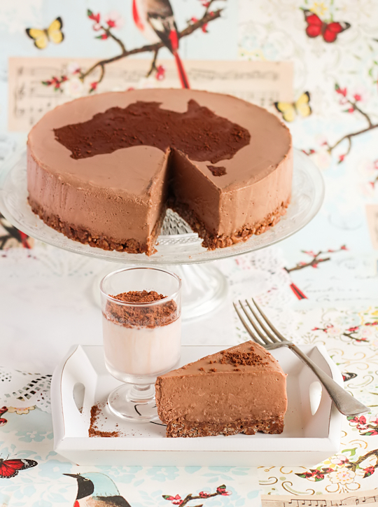 Milo Cheesecake with Chocolate Crackle Crust