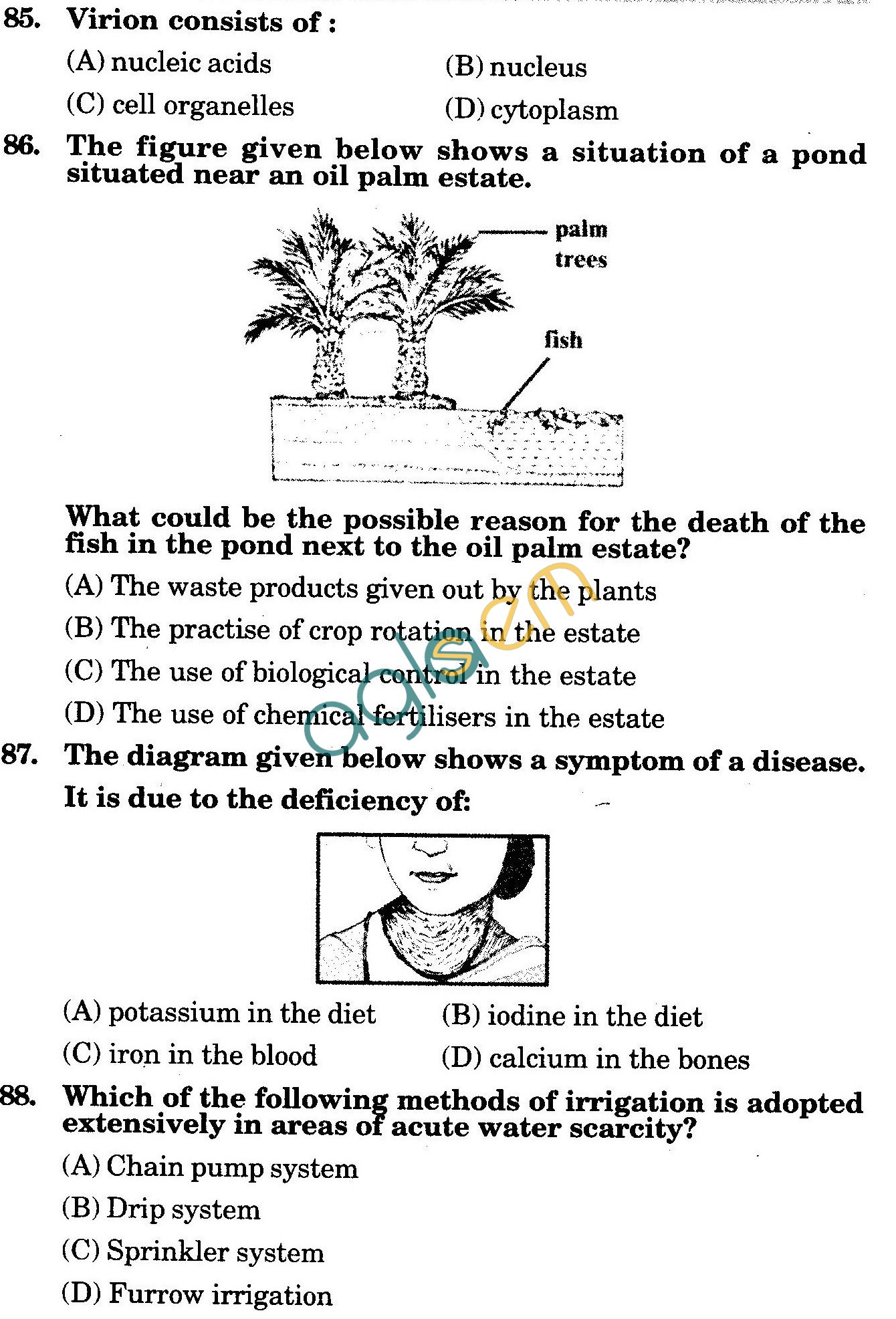 NSTSE 2010: Class VIII Question Paper with Answers - Biology