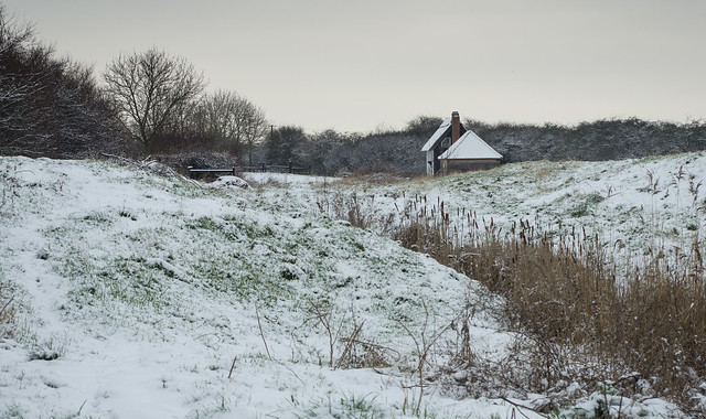 Snowy boardwalk Wat Tyler
