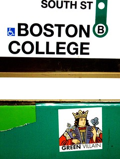 boston kenmore station green villain sticker