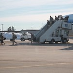 National Guard Soldiers Deplane