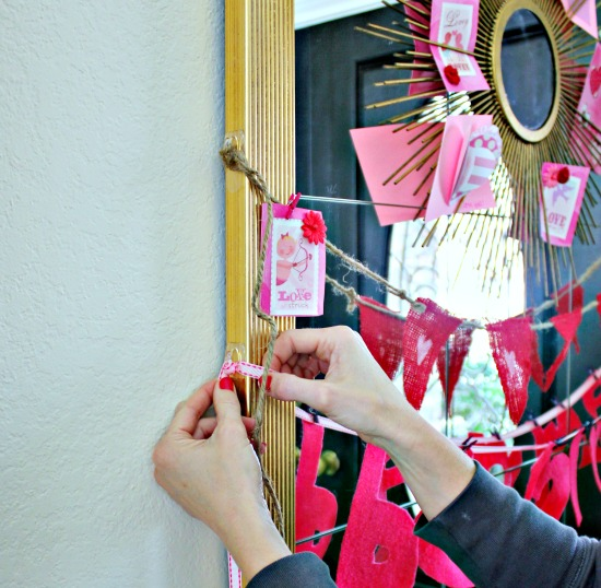 Valentine Vignette with Command hooks