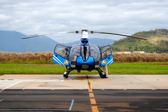 Blue Helicopter Hawaii Big Island