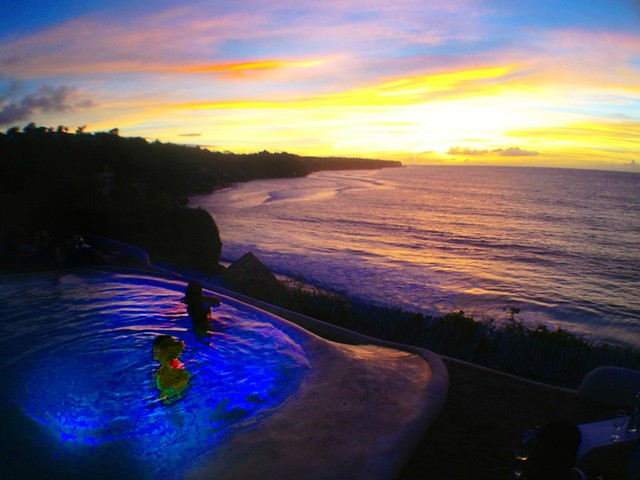 bali sunset view from el kabron
