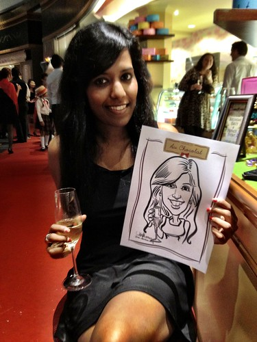 caricature live sketching for Au Chocolat Opening - 13
