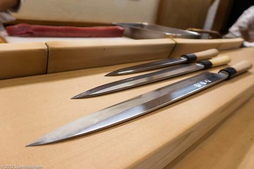 3 ages of sashimi knife, Roan Kikunoi Restaurant, Kyoto