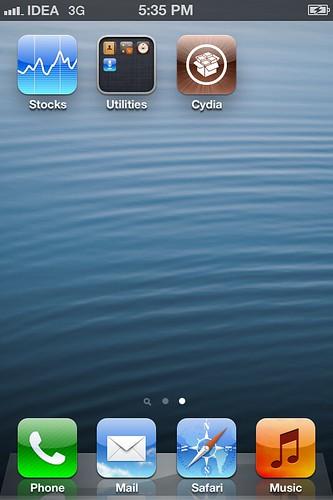 Cydia iOS 6.1 sn0wbreeze 2.9.8