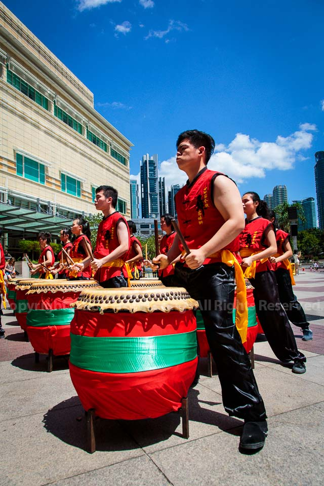 24 drums performance @ KLCC esplanade, Kuala Lumpur, Malaysia.