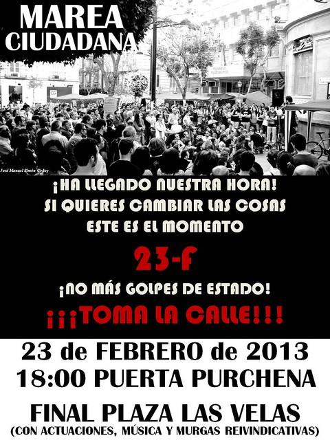 La Marea Ciudadana de Almería tomas la calle el 23 F
