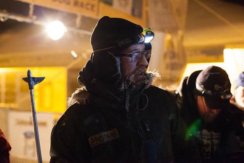 Brent Sass arriving in Dawson City, Yukon
