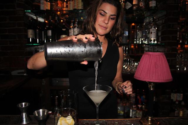La Dolce Vita's Amanda pouring Stoli Elit Vesper by Caroline on Crack