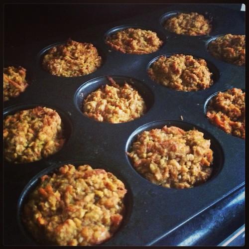 Carrot, Apple, Beet Muffins