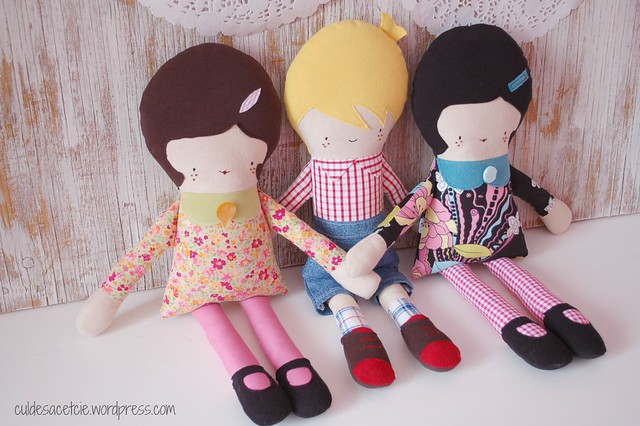 group shot, eco-friendly dolls