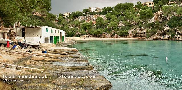 Barcas en Cala Pi (Lluchmajor, Mallorca)
