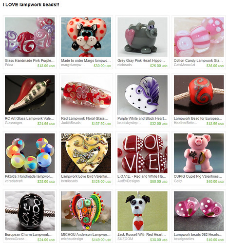 Treasury - I LOVE lampwork beads