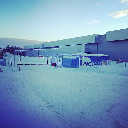 Facebooks datahall i Luleå.