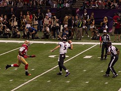 Joe Flacco Pass During Super Bowl XLVII
