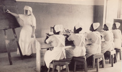 Nurses in class at the St Louis Combined hospital in Owo, Nigeria