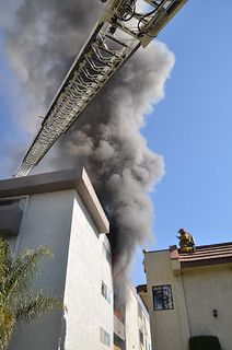 Pair Saved, Woman Hospitalized in Valley Village Apartment Blaze. © Photo by Ryan Babroff. Click to view more...
