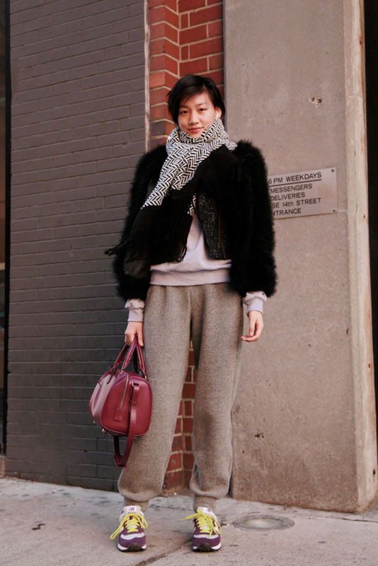 azn_sweatpants street style, street fashion, women, NYFW, NYC, MadeFW