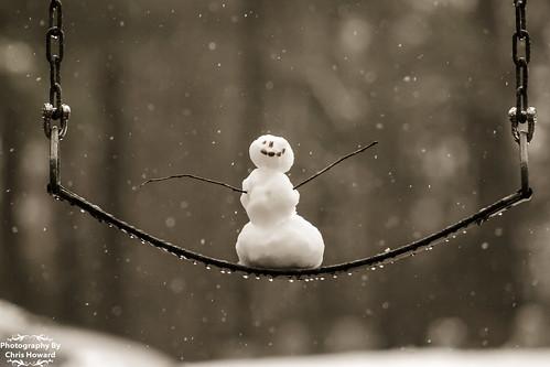 Snowman on Swings
